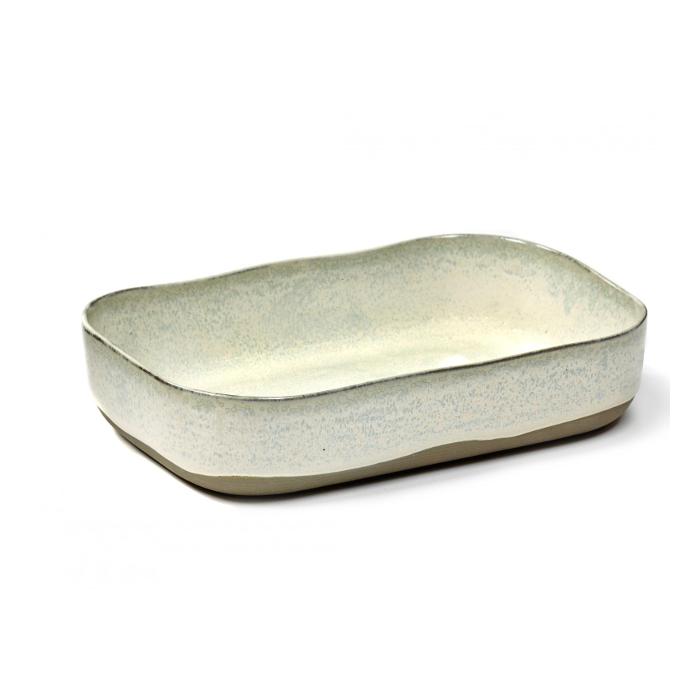 L 23 cm MERCI N/°5 Assiette extra profonde L Blanc cass/é